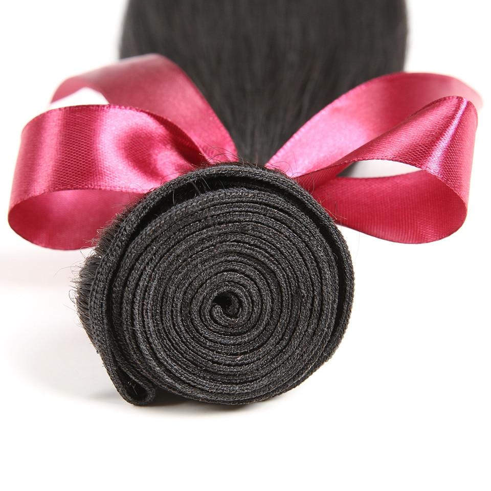 Karizma brasilianska raka hårbuntar 3 st. Lot Natural Black Color - Mänskligt hår (svart) - Foto 6