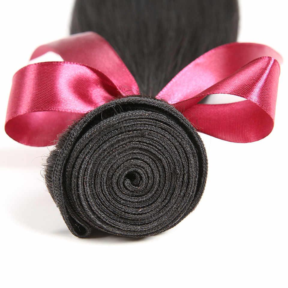 Karizma-mechones de cabello lacio brasileño, 3 uds. Por lote, Natural de 8-40 pulgadas de Color negro, extensiones de cabello humano mechones que se pueden teñir, Envío Gratis