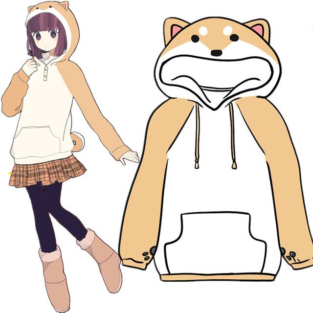 Kawaii Japanese Shiba Inu Hoodie