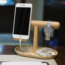 Bamboo Wood Stand For Apple Watch