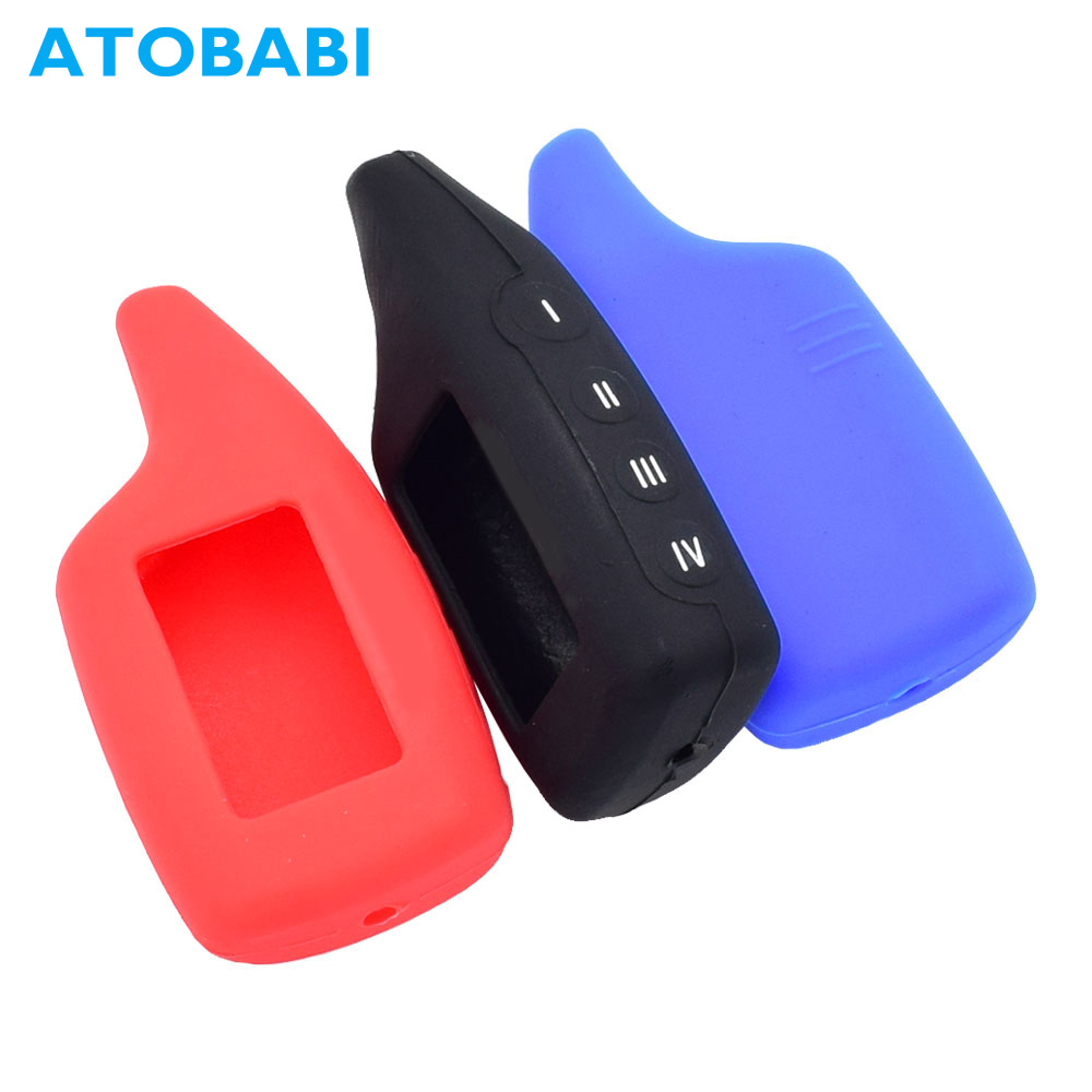 ATOBABI M6 Silicone Key Case LCD Remote Cover For Scher-Khan Magicar 5 / 6 M5 M6 Two Way Car Burglar Alarm System Transmitter
