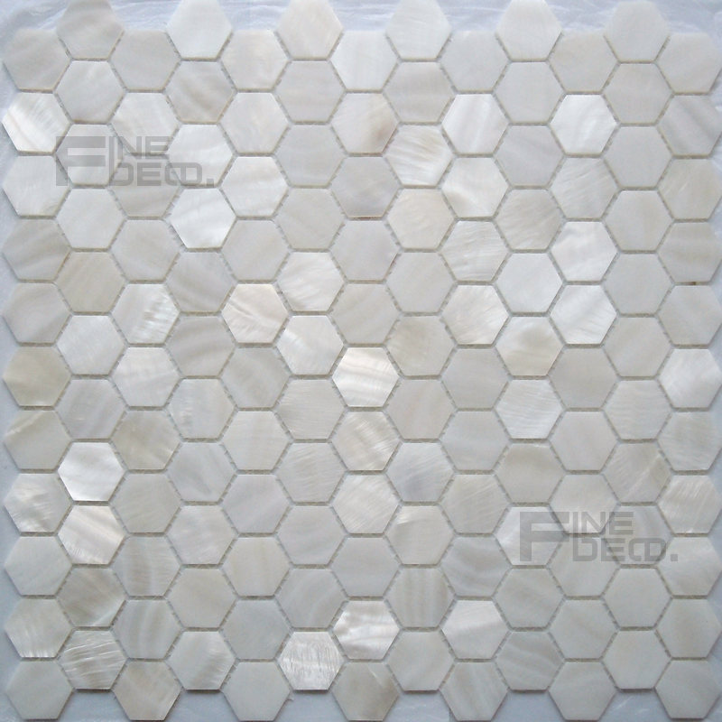 Spiksplinternieuw Wit en natuurlijke kleur zoetwater shell parelmoer mozaïek tegel WD-29