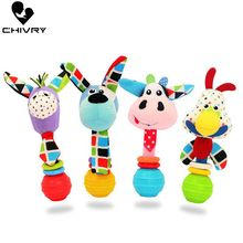 Cute Baby Rattles Ringing Ball Toys Plush Baby Cartoon Bed Toys Newborn Baby Handbells Hand Bells Plush Dolls Infant Toys Gift fisher price baby toys for baby rattles ball with sounds soft plush mobile toys baby speelgoed juguetes para los ninos