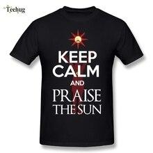 Praise The Sun Dark Souls T Shirt Round Neck Design Fashion Streetwear T-Shirts Camiseta