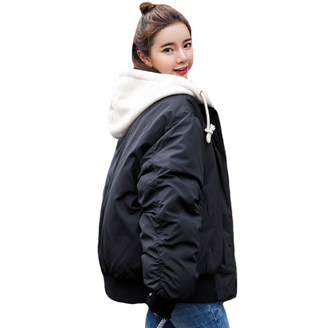 Best Price 2018 New Arrival Fashion Winter Jacket Women Hooded Outwear Oversize Autumn Female Coat Short Parka Casaco Feminino Inverno