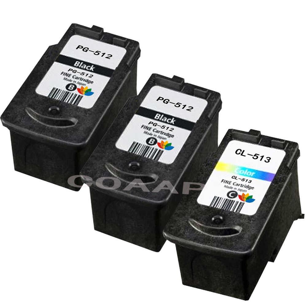3PK Compatível PG 512 CL 513 Cartucho De Tinta Para Impressora Canon IP2700 MP240 MP250 MP270 MP480 MX350 MP230