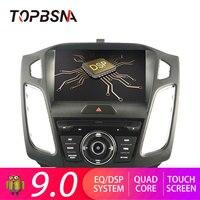 TOPBSNA Android 9,0 автомобильный dvd плеер 9 дюймов для Ford Focus 2012 2018 Мультимедиа gps Navi 1 din автомобильный Радио стерео, головное устройство авто wifi
