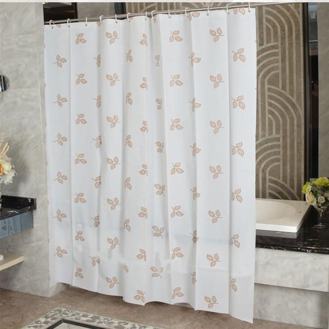PEVA Shower Curtain Gold Leaf Printed Waterproof Bathroom Curtain De ...