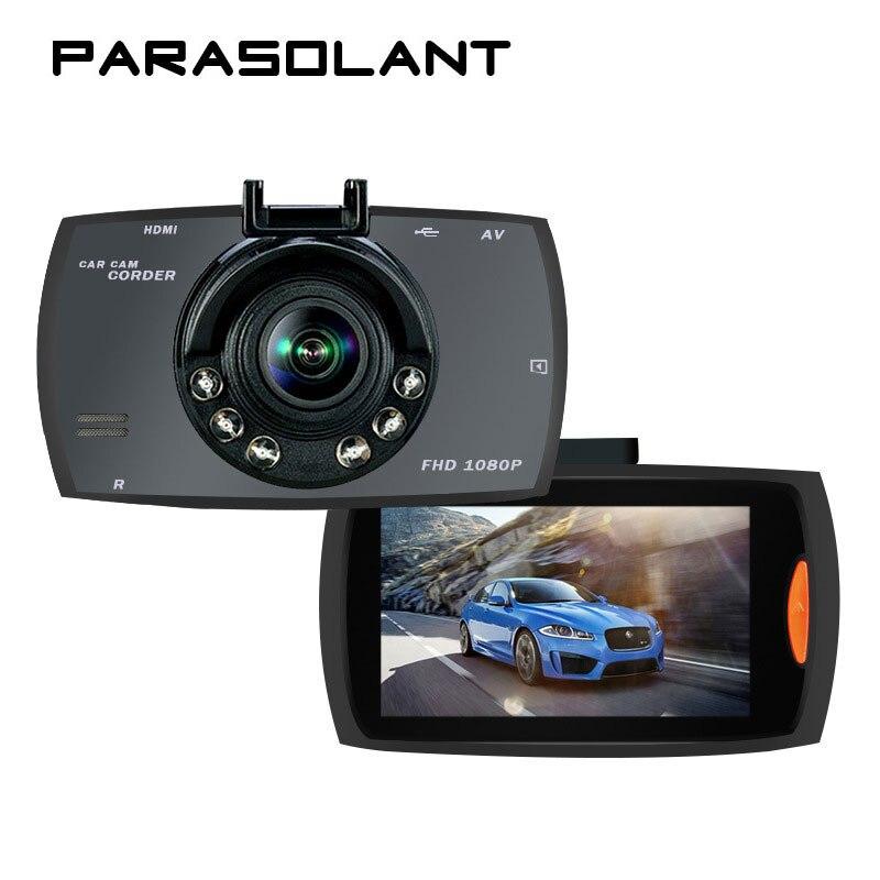 PARASOLANT 140 Wide-angle Car recorder Full HD 1080P Dash Cam 6 fill lights Clear Night Vision Car Camera Loop Recorder Car DVR