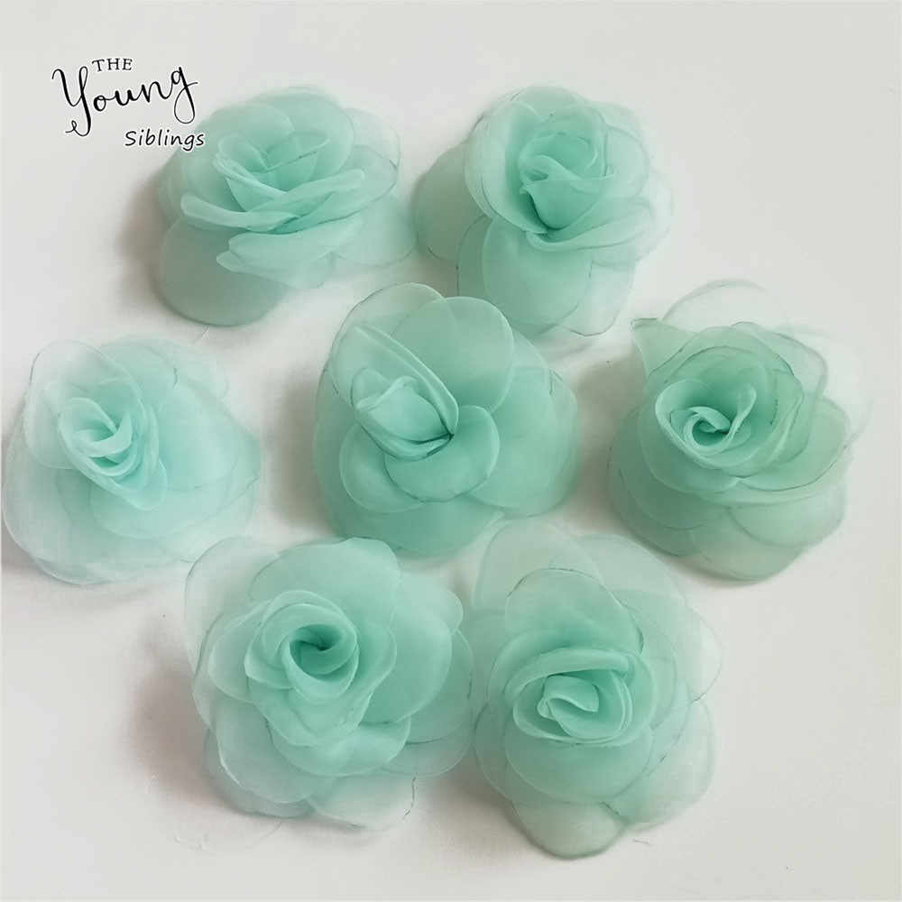 High quality Artificial Flowers Rose Organza Flowers Artificial Flower Heads Home Decor Wedding Favors DIY Costume Decoration
