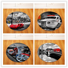 High Quality Luxury car Carpets Round Rugs Living Room Doormat Cartoon Carpets Door Floor Mat for Bedroom Fornasetti Carpet(China)