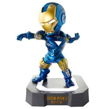 Marvel Egg Attack Iron Man Mark VI Blue Iron Man PVC Action Figure Collectible Toy with LED Light 7 18CM movie figure 18 cm egg attack iron man mark vi blue iron man with led light pvc action figure collectible toy model