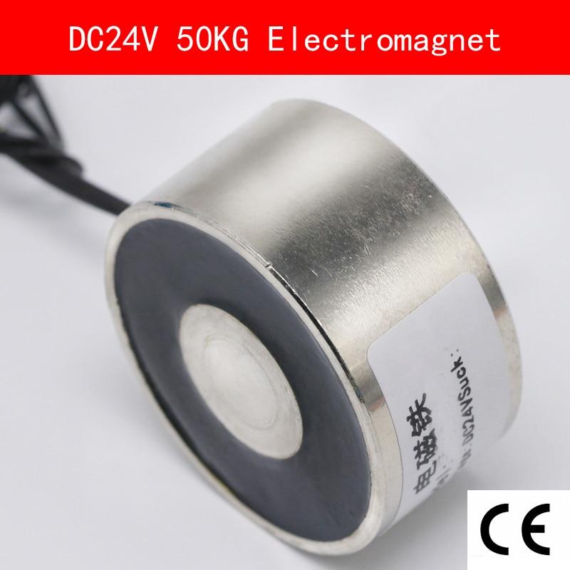 CE Certificação IP54 DC 24 V 10 W 50 kg Elétrica Elevação Ímã Eletroímã Solenóide Elevação Segurar Sucção Super P50/27