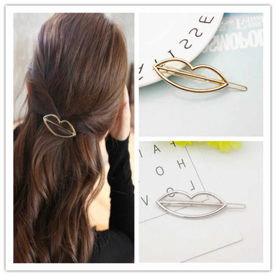 1 Pcs โลหะริมฝีปากผมคลิป Hairband หวี Bobby Pin Barrette Hairpin Headdress อุปกรณ์เสริมความงามเครื่องมือจัดแต่งทรงผมใหม่มาถึง