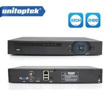 H.265 32Ch NVR 1080P lub 25Ch 5MP lub 8CH 8MP NVR ONVIF rejestrator sieciowy wsparcie na rzecz bezpieczeństwa kamera IP 2x HDD XMeye P2P widok aplikacji