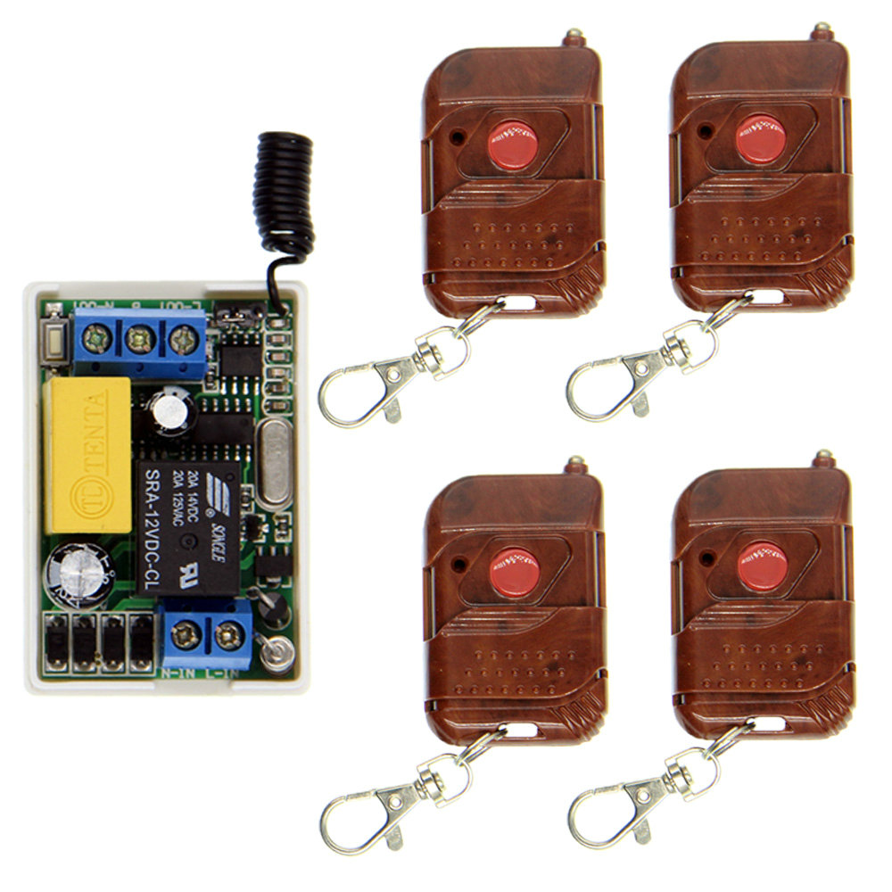 Mini Size White AC 220V 10A Relay 1 CH 1CH RF Wireless Remote Control Switch System,Peach Transmitter + Receiver,Self-lock ac 220v 10a 1ch relay wireless remote control switch system long range transmitter mini size receiver 315mhz 433mhz
