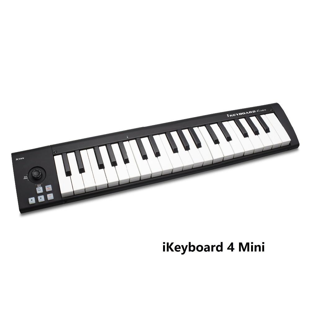 US $89 87 11% OFF|iCON iKeyboard 4Mini 37 key USB MIDI controller keyboard  portable MIDI keyboard arranger-in Microphones from Consumer Electronics on