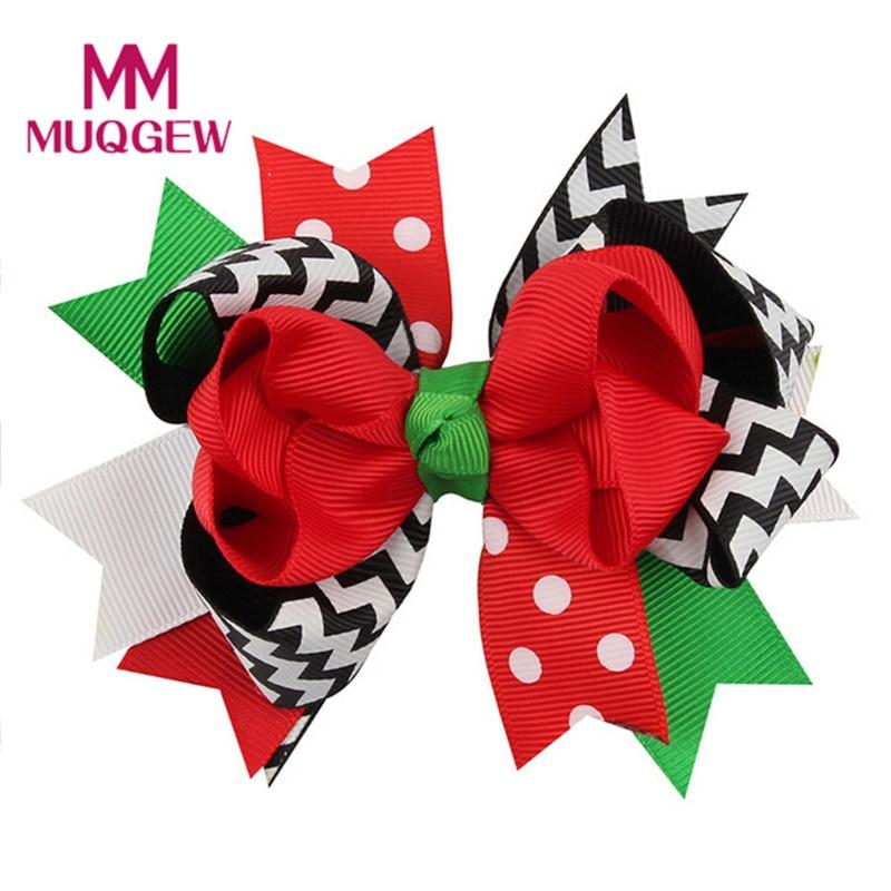 MUQGEW hair accessories Christmas headband Ornaments Bowknot Hairpin Headdress Christmas Gift flower headband 1 pc fashion women men the bones of hand hairpin novelty human skeleton fluorescence harajuku hair accessories halloween gift