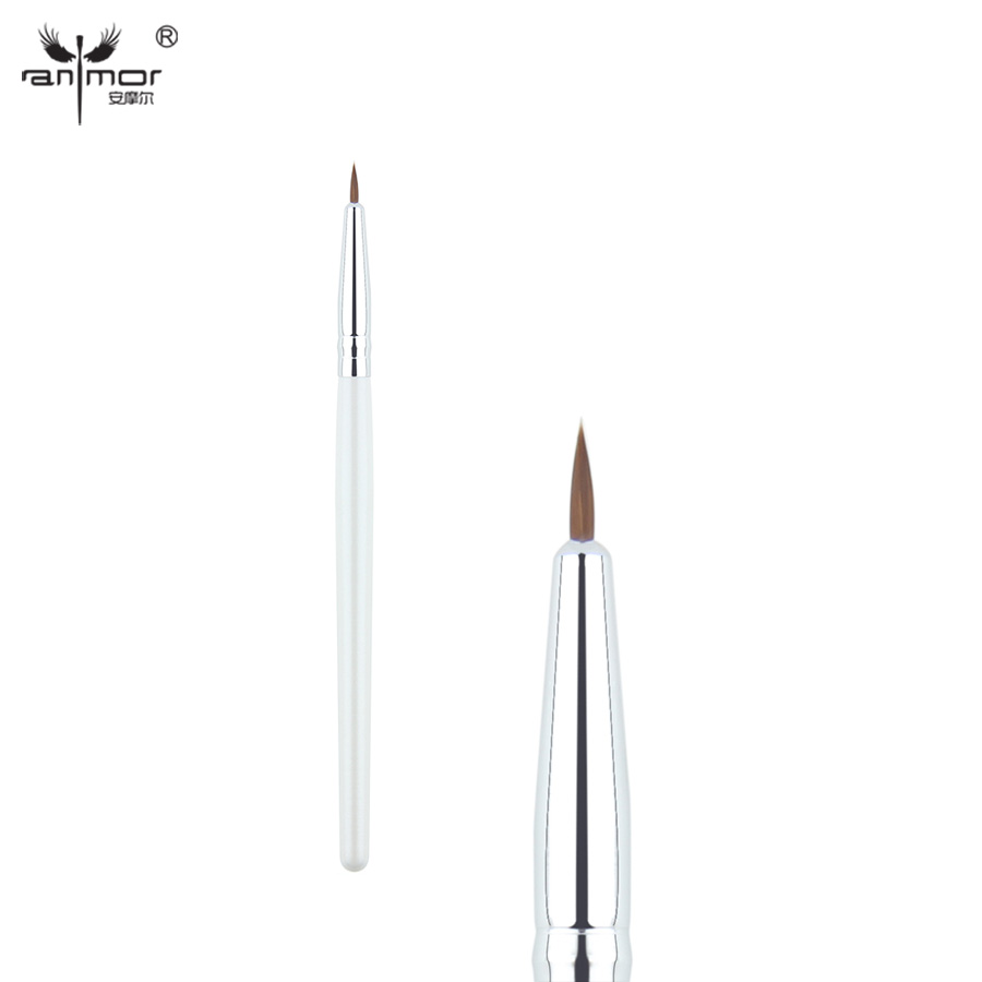 Anmor Synthetisch haar Precieze Eyeliner Brush Kleine Eye Lip Makeup Brushes voor Dagelijkse Make Up Cosmetische Eyebrow Eyeshadow Cleaner