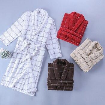 Women Bathrobe Men Thick Warm Long Cotton Bathrobe Plus Size XXL Kimono Bath Robe Winter Peignoir Dressing Gown Bridesmaid Robes
