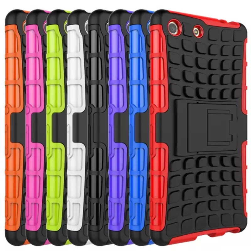 For Sony Xperia M5 Case On Sony Xperia M5 Cover Experia M 5 2In1 Anti Knock Silicone Hard Mix Hybrid Protective Cover