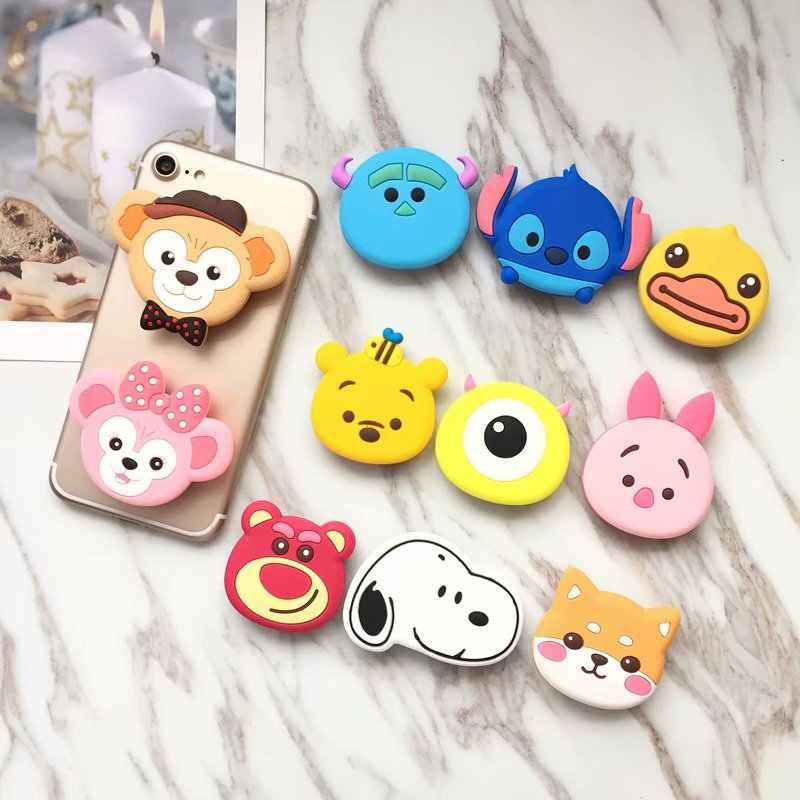 مقابل لطيف كيتي الدب الأرنب حامل هاتف توسيع حامل فنجر حامل ل فون سامسونج Xiaomi المحمول حامل هاتف ذكي حامل