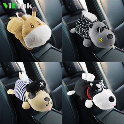 Cartoon Husky Dog Tissue Box Holder For Car Creative Plush Car Hand Box Tissue Case Sun Visor/Seat Back Hanging Tissue Box Bag