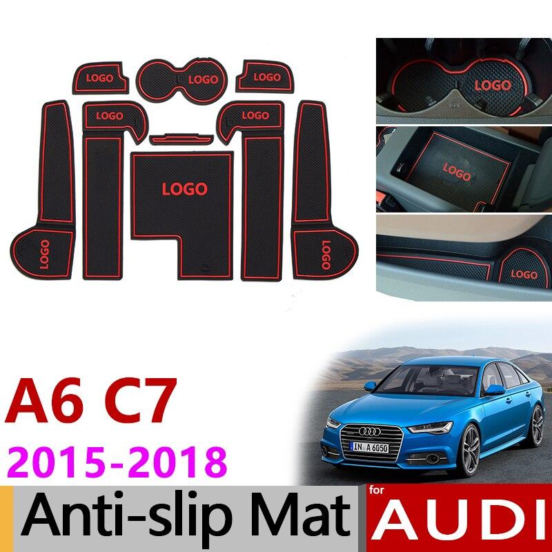 Anti Slip Gate Slot Mats Rubber Cup Mat For Audi A6 C7