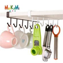 MAIKAMI Iron Kitchen Storage Rack Cupboard Hanging Hook Shelf Dish Hanger Chest Storage Shelf Bathroom Organizer Holder