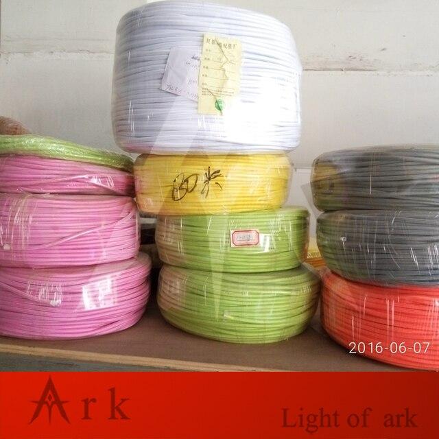 2 meter VDE zertifiziert 2 core Runde Textil Elektrischen Draht ...