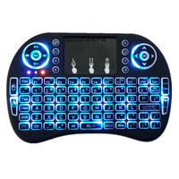 Original Backlight I8 English 2 4GHz Wireless Keyboard Air Mouse Touchpad Handheld Backlit For Android TV