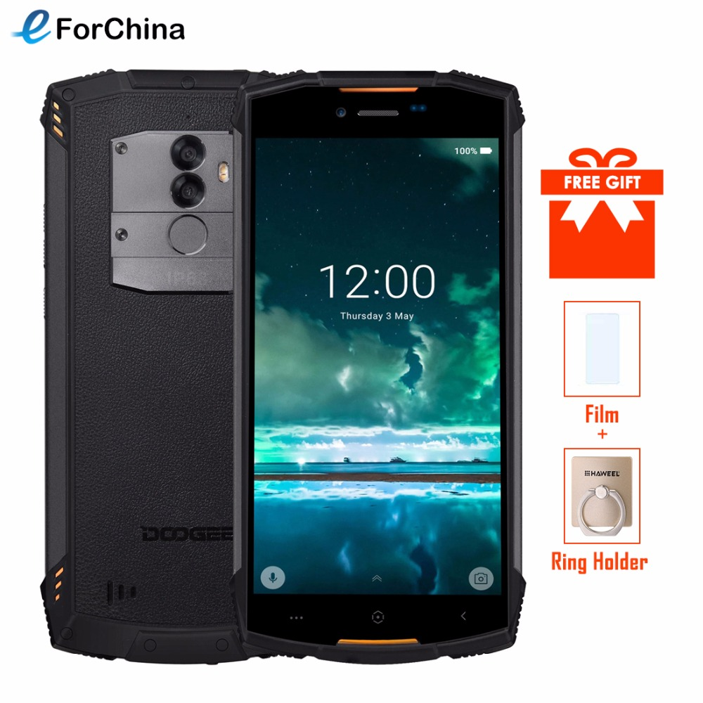 DOOGEE S55 Étanche Smartphone 4 GB RAM 64 GB ROM 5500 mAh MTK6750T Octa Core 5.5 pouce Android 8.0 Dual SIM 13.0MP OTA 4G FDD-LTE