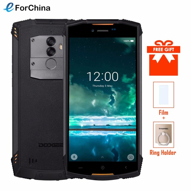 DOOGEE S55 Waterproof Smartphone 4GB RAM 64GB ROM 5500mAh MTK6750T Octa Core 5.5 inch Android 8.0 Dual SIM 13.0MP OTA 4G FDD-LTE