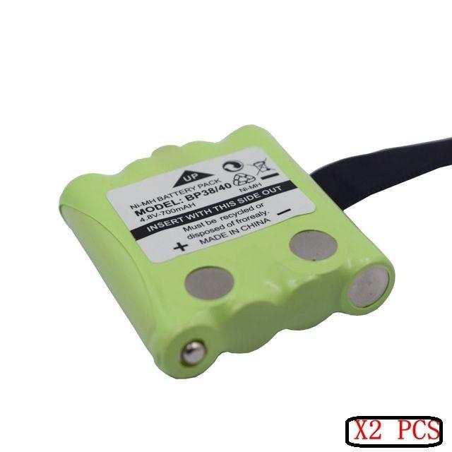2 PCS BP38/40 4.8 V 700 MAH NI-MH Batterie Pour Uniden BP-38 BP-40 BT-1013 BT-537 GMR FRS 2 Way Radio MOTORO-LA T6