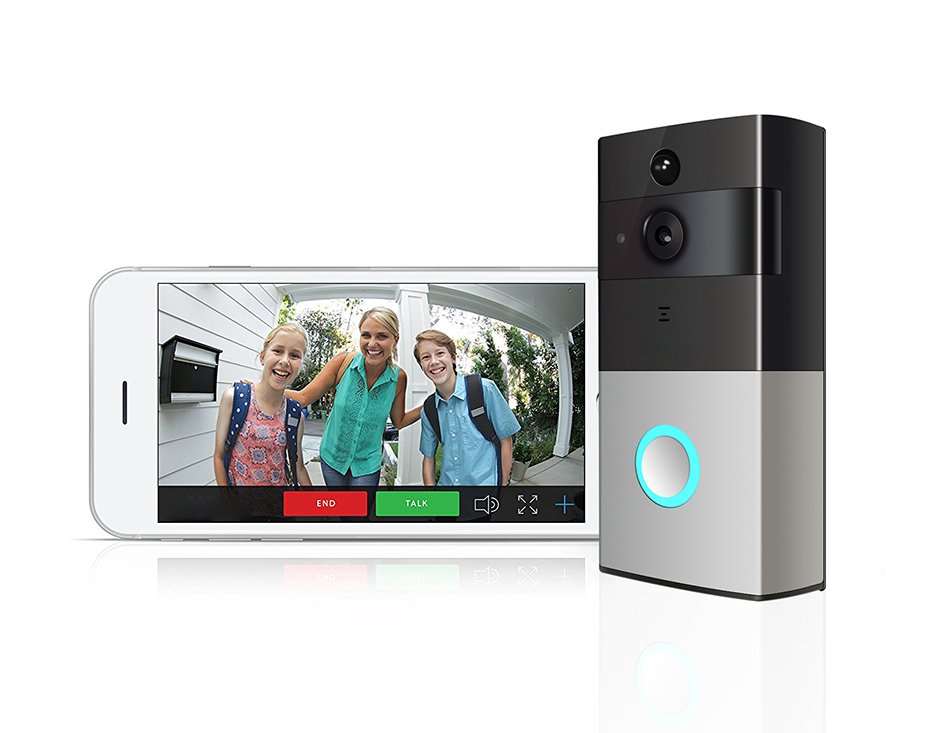 Looline Battery Wifi Video Doorphone Push Message Just One Second When Someone Press The Doorbell