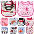 Wholesale Baby Bibs Waterproof Reborn Babies Towel Saliva Accessories Kids Cartoon 3 Layer Toddler Lunch Bibs Burp Cloths