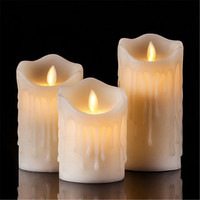 Led candle flameless candles simulation of flame flickering led candle lantern festival decoration, family decoration candle wax