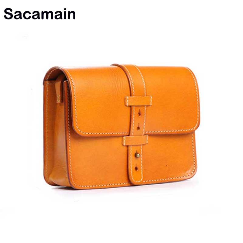 b239b707f559 Sac основной Винтаж сумка Для женщин кожа Сумка Классические роскошные  небольшие сумки для девочек элегантные Повседневное дизайнер 2018