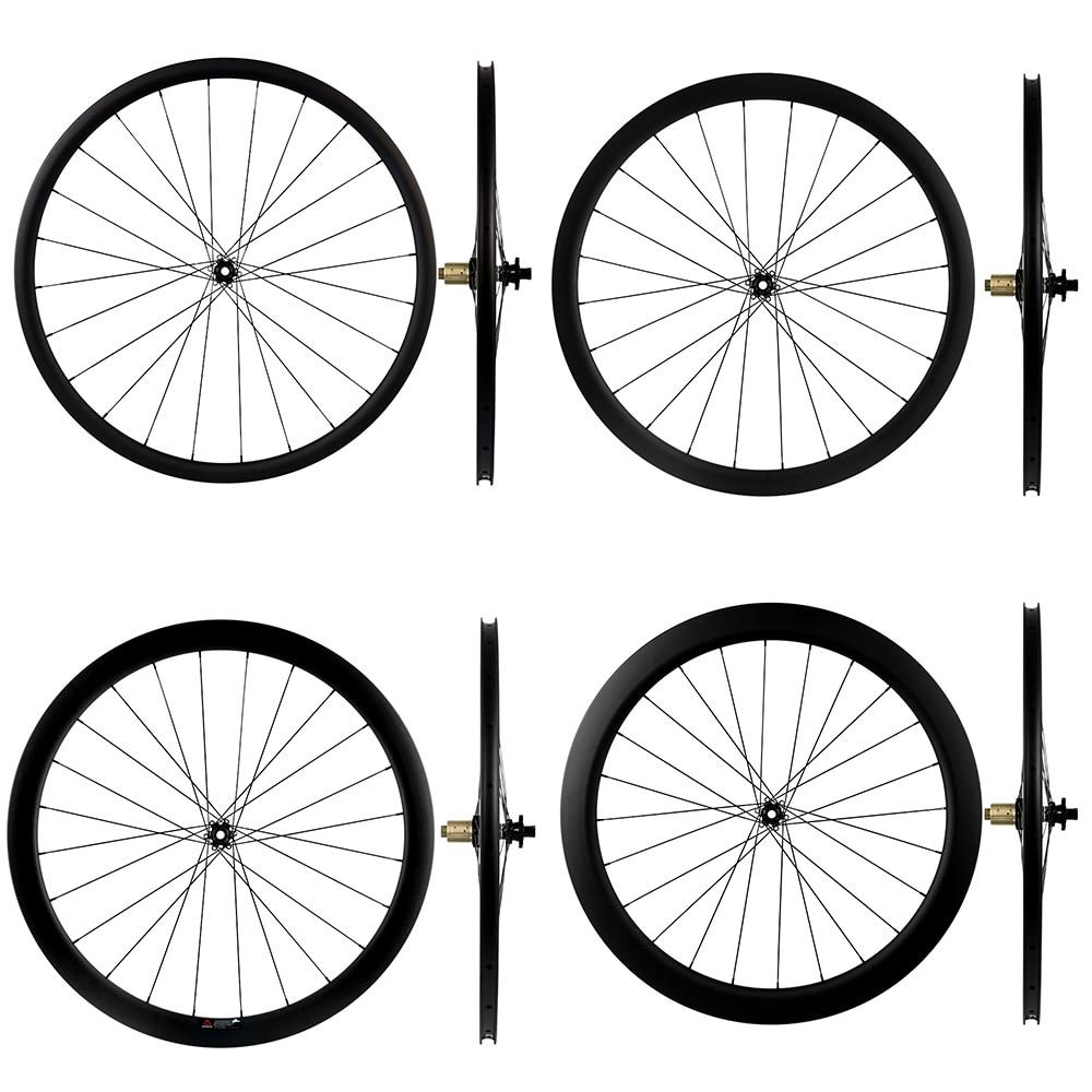 Disc Brake Carbon Wheelset 30 40 45 55mm Novatec 411 412 Center Lock 6 Bolts Carbon