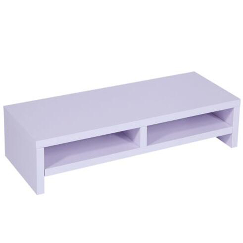 Desktop Monitor Stand TV Laptop Rack Computer Screen Riser Shelf Desk Purplish Monitor Riser Computer Monitor Riser Accessories