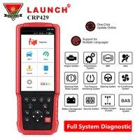 LAUNCH X431 CRP429 OBD2 считыватель кодов Автомобильный сканер полная система диагностический инструмент с 8 функцией сброса pk CRP429C autel MK808