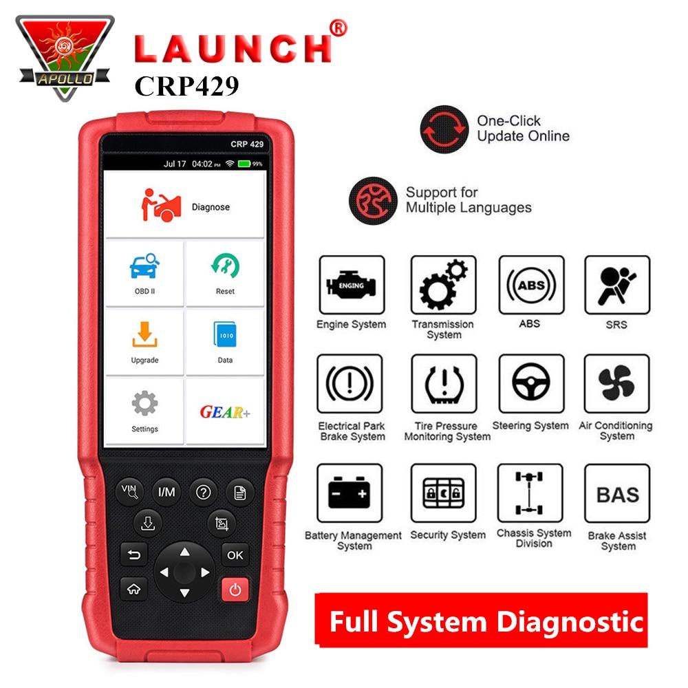 LANCEMENT X431 CRP429 OBD2 Code Lecteur scanner de Diagnostic pour voiture Système Complet Outil De Diagnostic avec 8 Réinitialiser Fonction pk CRP429C Autel MK808