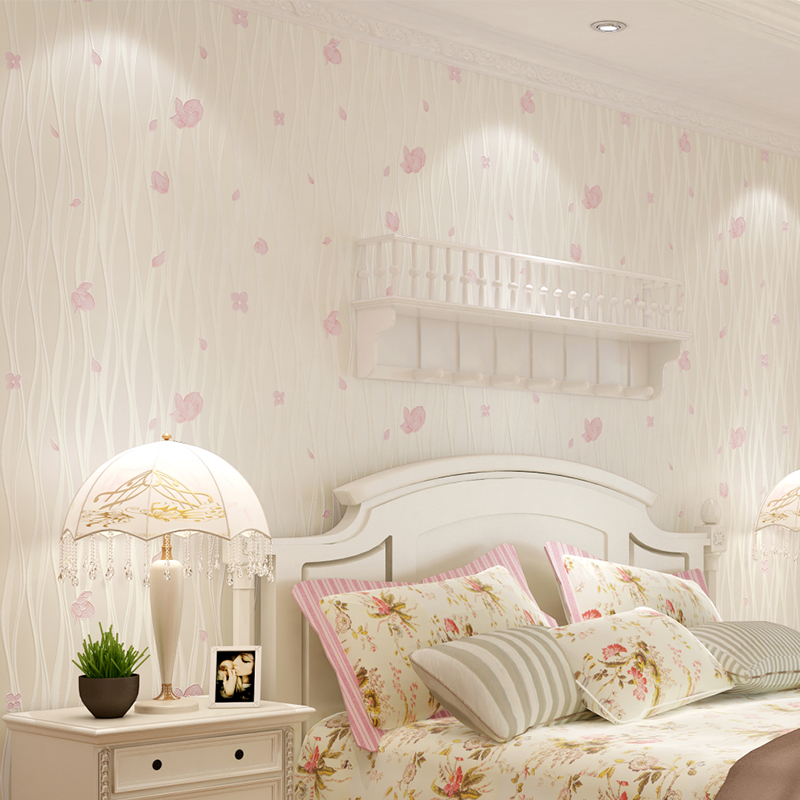 Nouveau papier peint rural chaud de haute qualité petite chambre mignonne de fille de fleur non-tissé papier peint doux romance chambre d'enfants