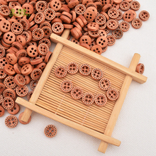 Chainho ,100pcs / Bag, 4 Holes Wood Color, Wooden Buttons Of DIY Scrapbooking Patchwork Sewing/Decorative Crafts&Home Decoration(China)