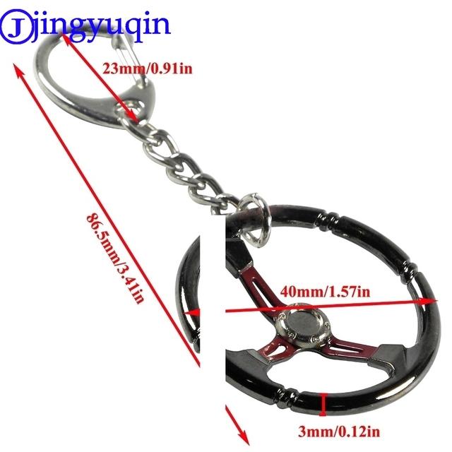 jingyuqin Popular jewelry Fashion Keychain keyRing Sleeve Bearing Auto Part Stainless Steel Car Steering Wheel Model Urbocharger