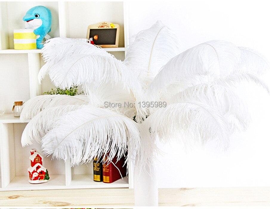 送料無料卸売ホワイトダチョウの羽20〜22インチ/50 55センチウェディングとさまざまな装飾舞台公演  グループ上の ホーム&ガーデン からの 羽 の中 1