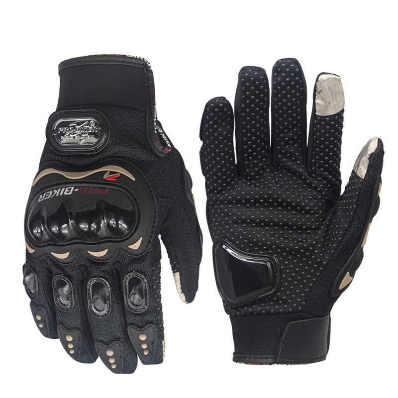 1Pair Motorbike Protective Carbon Fiber Powersports Off-Road Racing Cycling Motorcycle Full Finger Motocross Motor Gloves