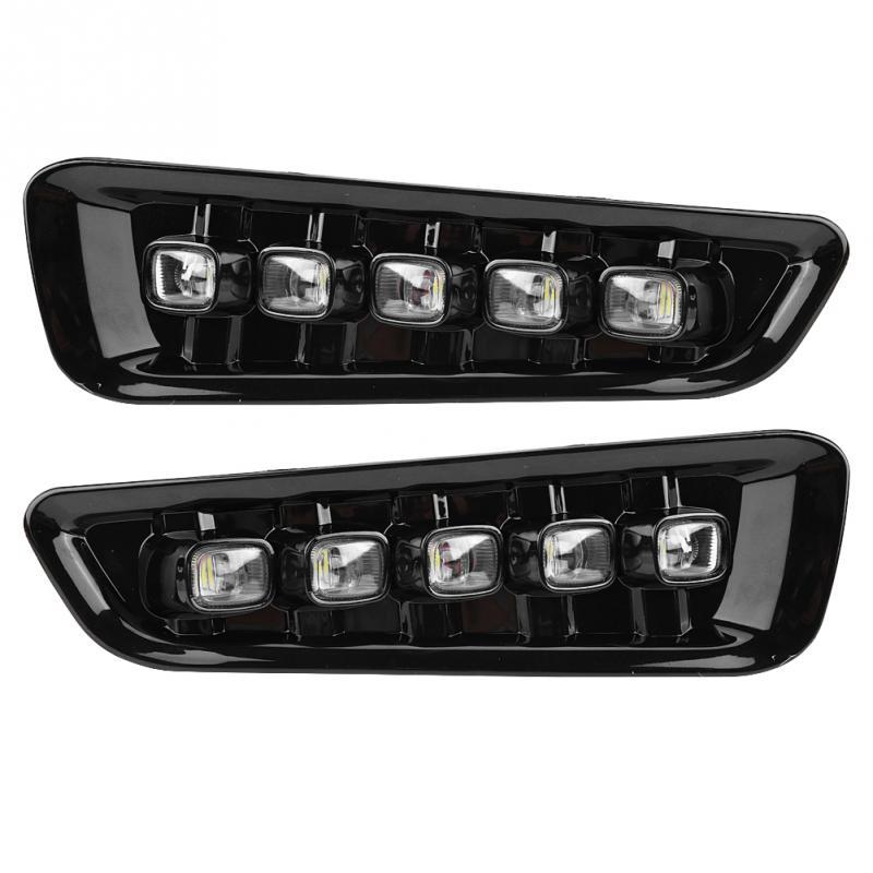 1 пара светодиодный автомобильный дневной ходовой светильник с поворотом Двойная модель DRL для Ford F-150 Raptor 16 1718 автомобильный светильник аксе...