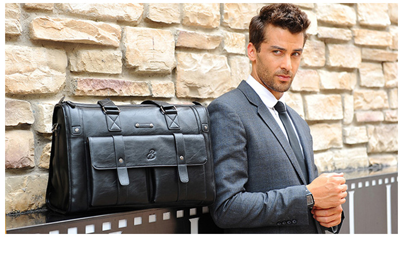 HTB1KaYRJVzqK1RjSZSgq6ApAVXaP Men Leather Black Briefcase Business Handbag Messenger Bags Male Vintage Shoulder Bag Men's Large Laptop Travel Bags Hot XA177ZC