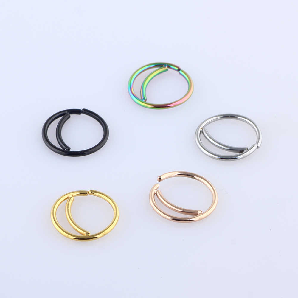 Tiancifbyjs Stainless Steel Nose Ring Hoop Septum Rings Nose Body